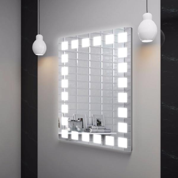 Зеркало LED (60*80*3см) VZ-D9 с полкой