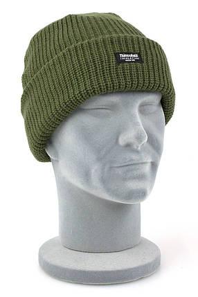 Тёплая акриловая шапка, утеплитель Thinsulate MilTec Olive 12131001, фото 2