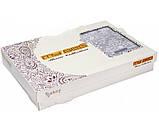 Жаккардовое покрывало с бахрамой Тм My Bed 240х260 Dantela 3 кремовый, фото 2