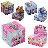 (ЗАКАЗЫВАТЬ ПО 24-ШТ В БЛОКЕЕЕЕЕ) Кубик 818A-B-C (480шт) 3х3, 3,5см, 3в(AV,LOL,FR), 24шт в дисплее,