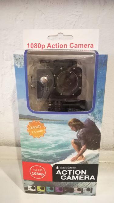 Экшн камера Sports Action Camera FullHD 1080p видеокамера для спорта, водостойкая до 30 м, 23*12*6см