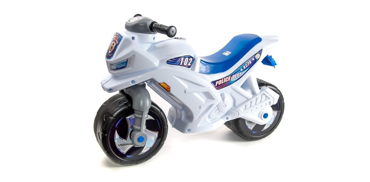 "Каталка ""Мотоцикл 2-х колесный"",белый, арт. 501б (шт.)"
