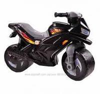 """Каталка """"Мотоцикл 2-х колесный"""",черный, арт. 501ч(шт.)"""
