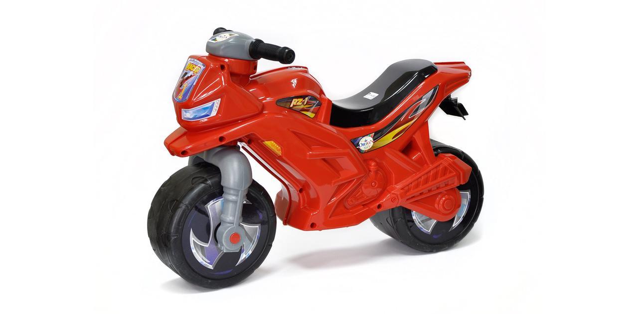 """Каталка """"Мотоцикл 2-х колесный"""",красный, с муз. сигналом, арт. 501в.3 (шт.)"""