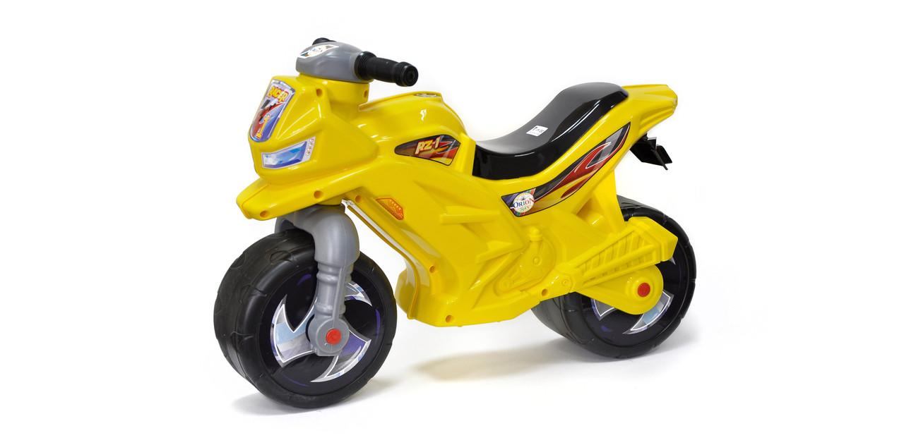 """Каталка """"Мотоцикл 2-х колесный"""",жолтый, с муз. сигналом, арт. 501в.3 (шт.)"""