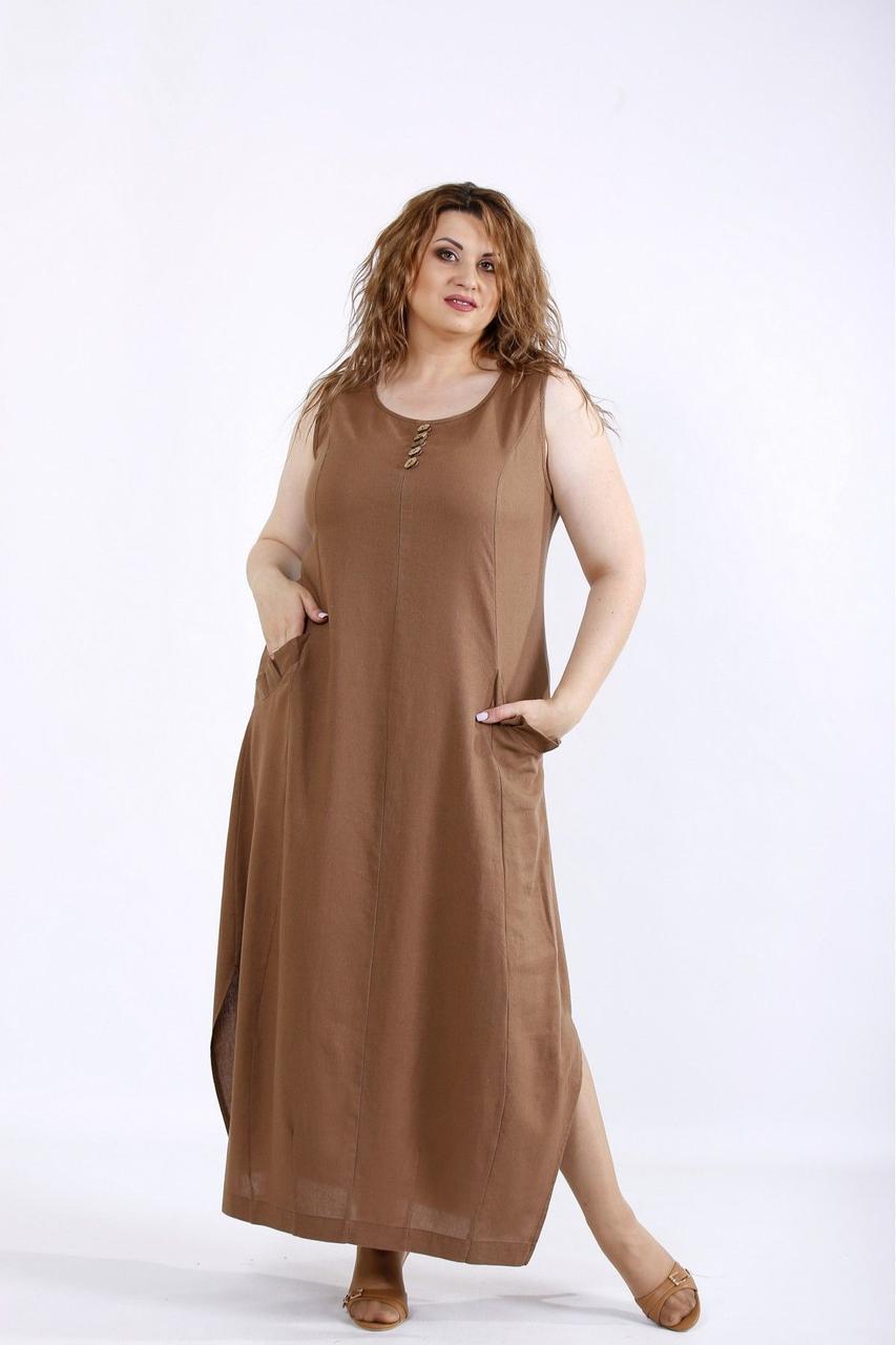Купить Женская одежда коричневого цвета 54 размера