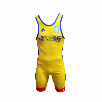 Костюм для борьбы (трико) Adidas UWW (желтый,1633\RED V2)
