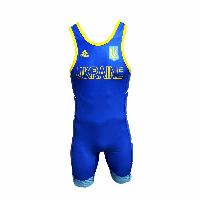 Костюм для борьбы (трико) Adidas UWW (синий, 1633\BLUE V2)