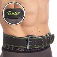 Пояс атлетический кожаный FAIRTEX 165103 (ширина-6in (15см), р-р S-XL, с подкладкой для спины, черный) Код