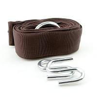 Крепеж GreenCamp для гамака с системой 'SaveTree', L=300cm, 2'S' крючка, коричневый