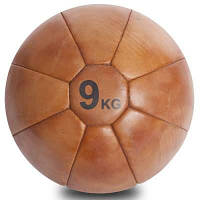 Мяч медицинский медбол VINTAGE Medicine Ball F-0242-9 9кг (кожа, d-30см) Код F-0242-9