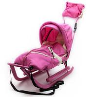 Adbor Piccolino DeLux детские санки, цвет розовый