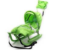 Дитячі санки Adbor Piccolino DeLux, колір зелений