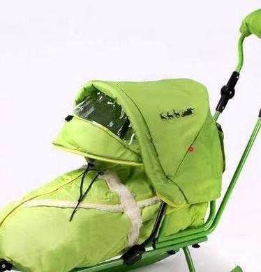 Капюшон для санок Adbor Piccolino, цвет зеленый