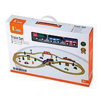 Деревянная железная дорога Viga Toys, 49 деталей (56304)
