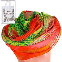Женский оранжевый шарф из шифона ETERNO