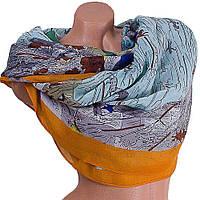 Женский хлопковый шарф цветной с принтом ETERNO