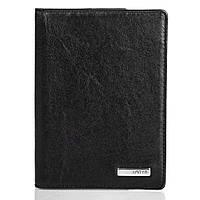 Мужская черная обложка для паспорта из кожи Karya SHI092-1
