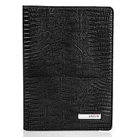 Черная мужская обложка для паспорта из кожи Karya SHI092-076