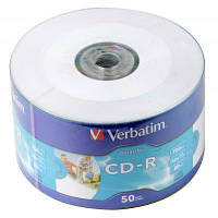 Диск CD Verbatim 700Mb 52x WrapTape Extra PRINTABLE (43794)