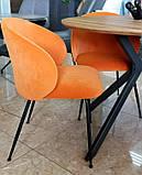М'який стілець M-39 мідний вельвет Vetro Mebel, фото 5