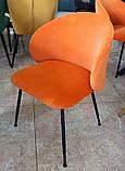 М'який стілець M-39 мідний вельвет Vetro Mebel, фото 6