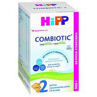 HiPP. Детская сухая молочная смесь HiPP Combiotiс 2 (6-12m) 900 г. картонная упаковка, арт. 2441 (9062300138778)