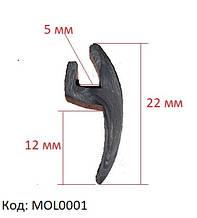 Ущільнювач лобового скла Opel Vectra, Опель Вектра, універсальна ущільнювальна гумка, MOL0001