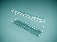 Подставка для ручек из оргстекла на 15 шт, 255х100х70 мм (Толщина акрила : 1,8 мм; ), фото 1