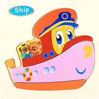 Деревянная игрушка Корабль, развивающие товары для детей.
