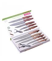 A5043 Набор кухонных ножей в подарочной упаковке 6 предметов (5 ножей+пиллер)