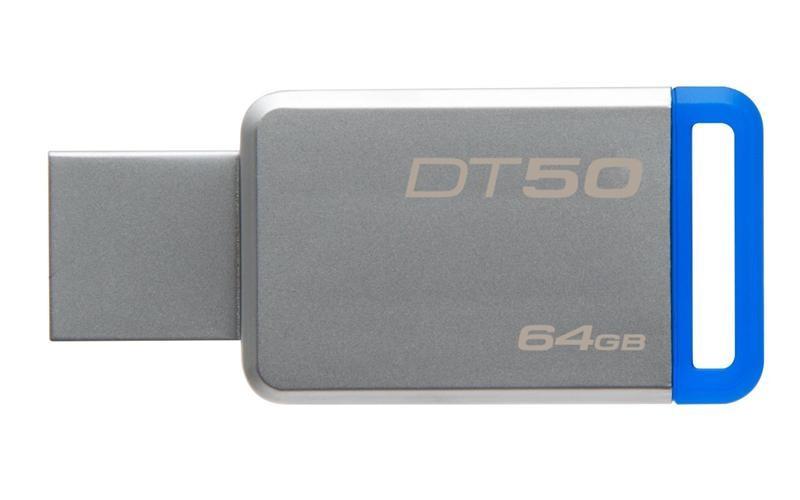 Флеш-накопитель USB3.1 64GB Kingston DataTraveler 50 Metal/Blue (DT50/64GB)