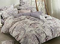 Сатиновое постельное белье полуторное 150*220 хлопок 100% (14650) KRISPOL Украина