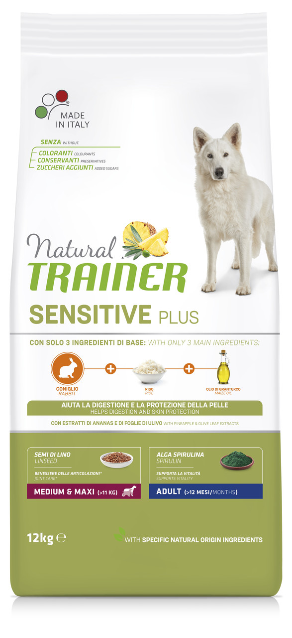 Сухой корм Natural Trainer Dog Sensitive Plus Adult MM With  Rabbit для собак средних и крупных пород 3 кг.