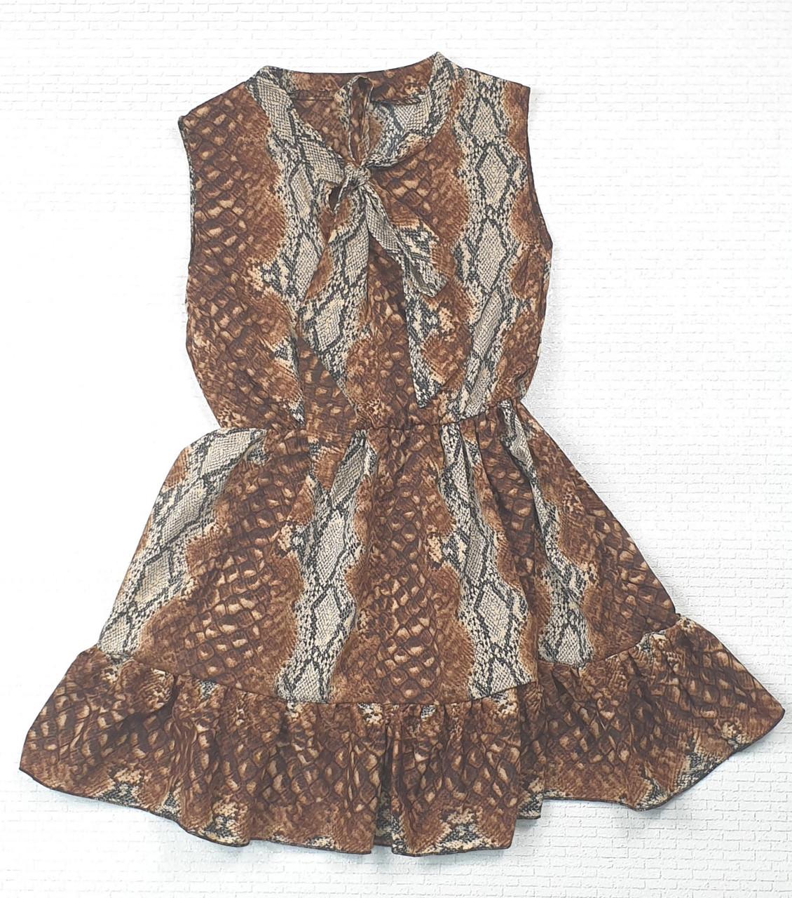 Платье  для девочки 134,140,146,152 принт змея