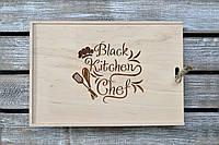 Набор для кухни. Деревянный блокнот, дубовая досточка, фартук и лопатка. (A00107), фото 1