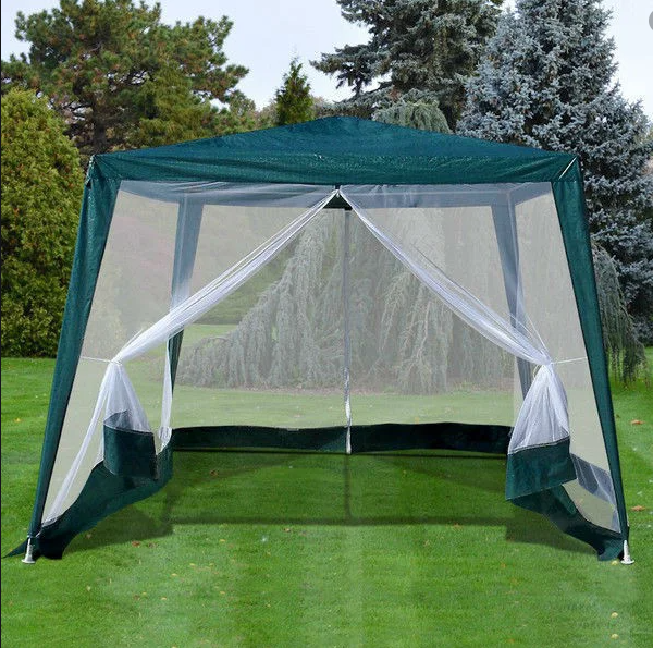 Садовый шатер павильон палатка 3х3 метра со стенами из москитной сетки