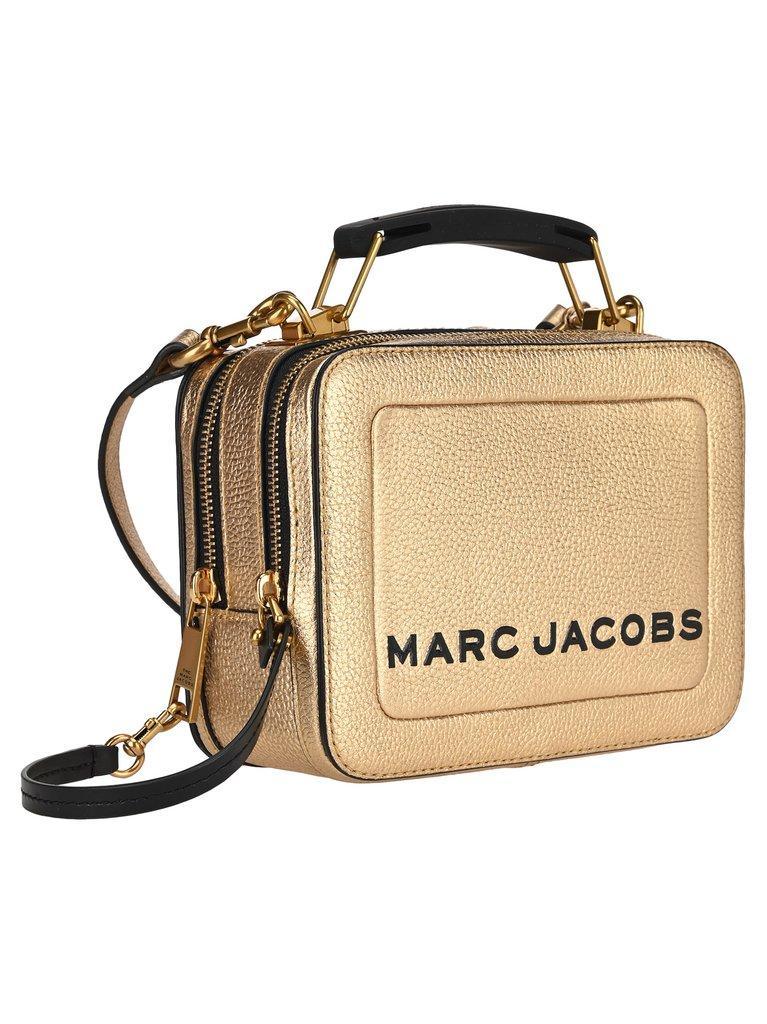 Сумка Marc Jacobs THE TEXTURED MINI BOX BAG PLATINUM Gold usa 100% original QR Код (золото) M0016183-710