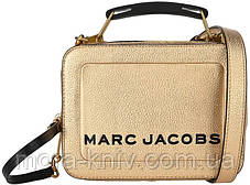 Сумка Marc Jacobs THE TEXTURED MINI BOX BAG PLATINUM Gold usa 100% original QR Код (золото) M0016183-710, фото 2