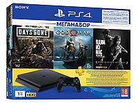 Игровая приставка Sony PlayStation 4 Slim 1Tb (Days Gone + God Of War + The Last of Us + PSPlus 3M)