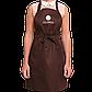 Комплект фартуков для мастера Gloria серый+коричневый, фото 3