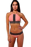 Купальник раздельный Katrin 806-Peach, розовый с черным