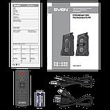 Колонка SVEN PS-440 Black (20W, TWS, Bluetooth, FM, USB, microSD, LED-display, RC, 2x2000mA*h), фото 4