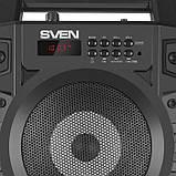 Колонка SVEN PS-440 Black (20W, TWS, Bluetooth, FM, USB, microSD, LED-display, RC, 2x2000mA*h), фото 5