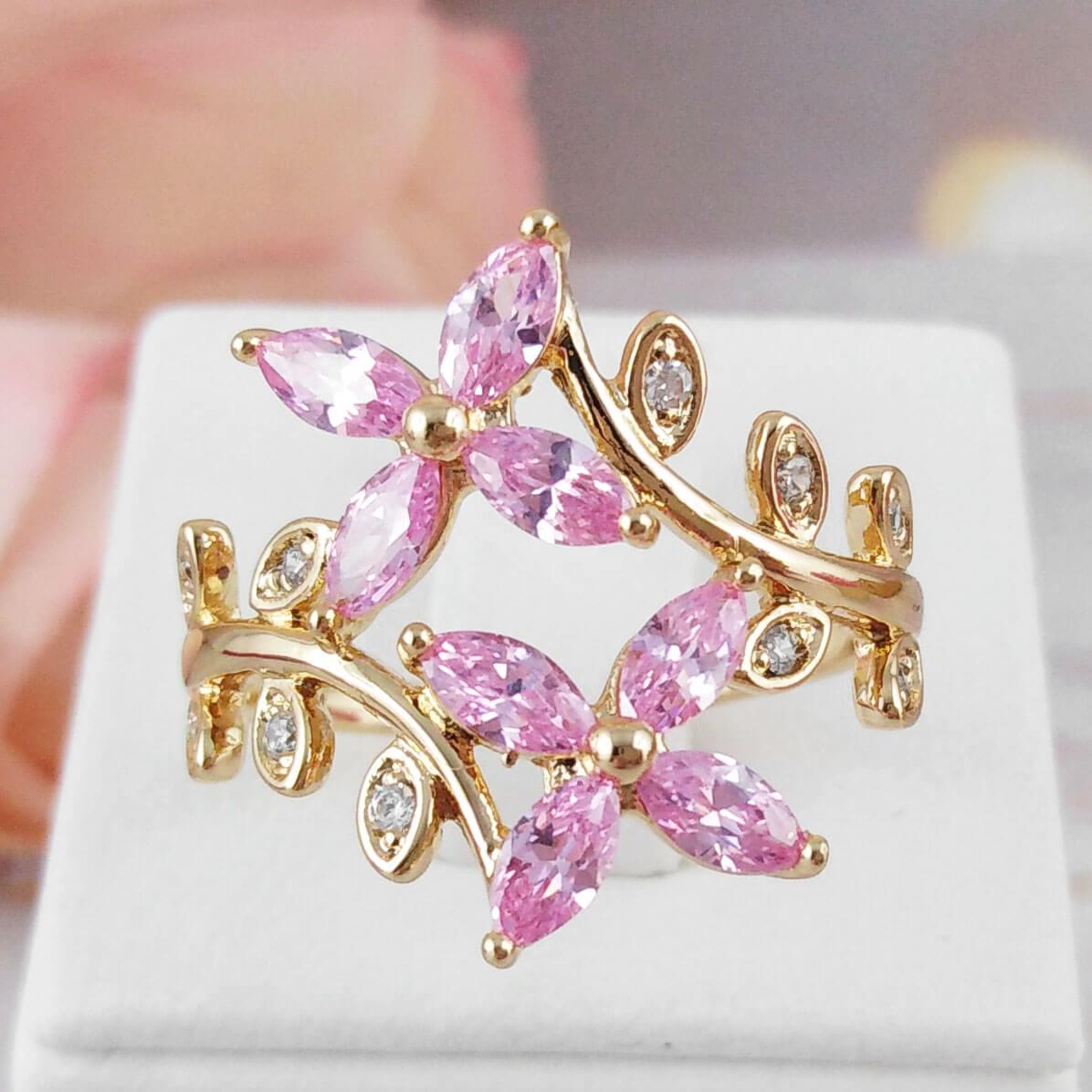 Кольцо Xuping Jewelry размер 19,5 Иви медицинское золото позолота 18К А/В 5719