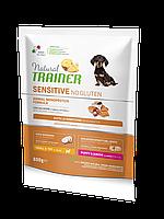 Сухой корм Natural Trainer Dog Sensitive Puppy&Junior Mini With Salmon для щенков мини пород 0.8 кг