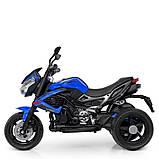 Мотоцикл Bambi M 4152EL-4 Синий, фото 4