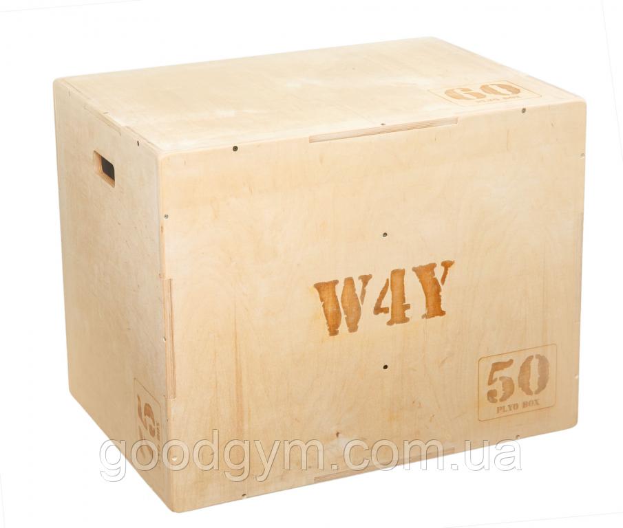 Бокс плиометрический W4Y ( 50х60х75, собраный, вес 30 кг, устрые углы зашлифованы)