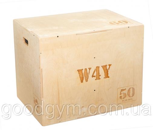 Бокс плиометрический W4Y ( 50х60х75, собраный, вес 30 кг, устрые углы зашлифованы), фото 2