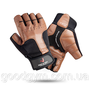 Перчатки для тяжелой атлетики и фитнеса c напульсником Way4you Мужские